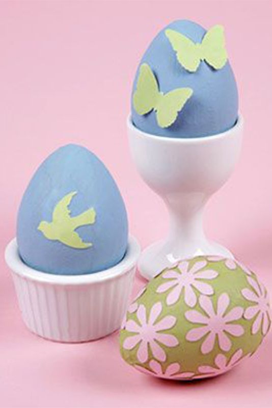 Punched Paper Easter Egg Craft